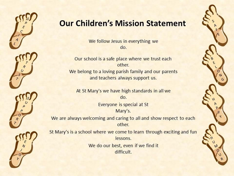 Our Children's Mission Statement